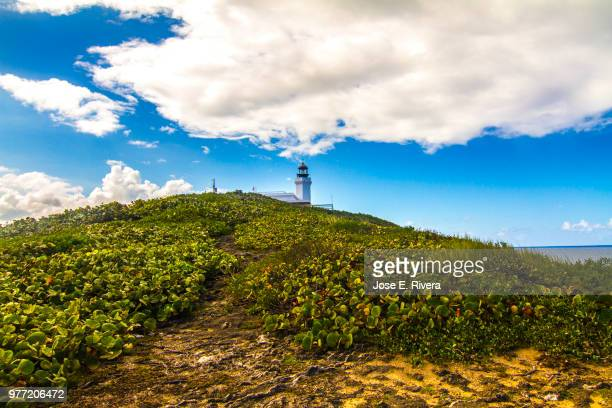 Lighthouse on green hill, Arecibo, Puerto Rico