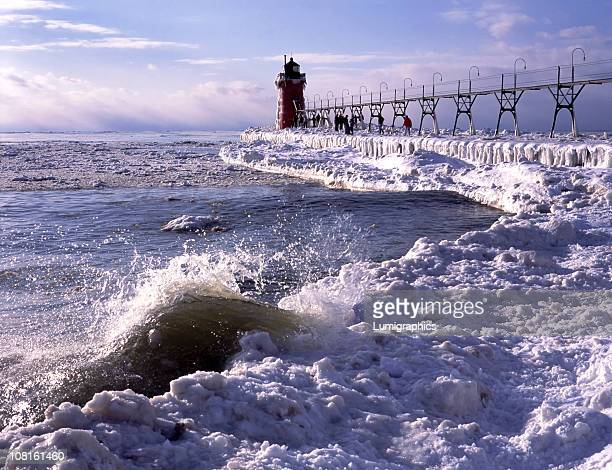 Lighthouse on Lake During Winter