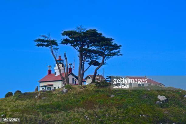 lighthouse on oregon coast - josie photos et images de collection
