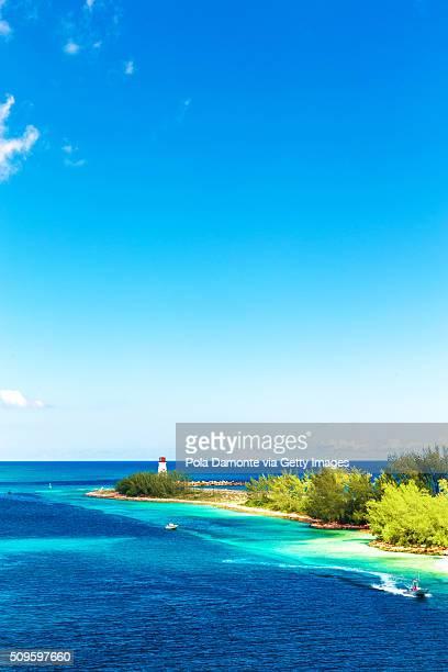 Lighthouse on Paradise island - Nassau, Bahamas