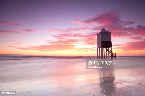 Lighthouse on sea, Burnham-on-Sea, UK