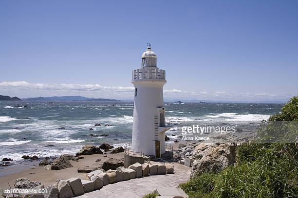 Lighthouse on shore