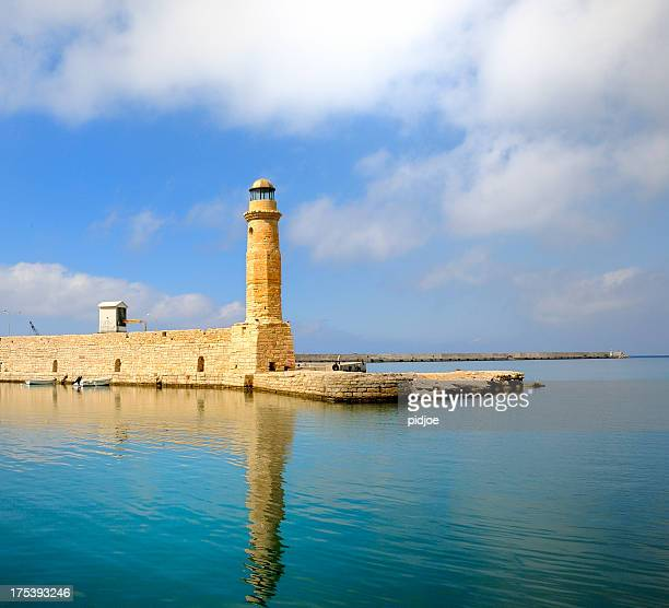 lighthouse on the Greek island Crete