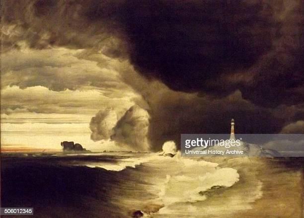 Lighthouse on the Norwegian Coast c 1855 by Peder Balke Oil on canvas