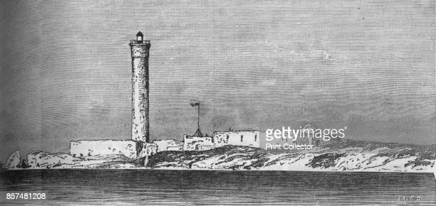 Lighthouse on the Paros Island Alexandria' circa 1882 Episode of the AngloEgyptian War From British Battles on Land and Sea Vol IV by James Grant...