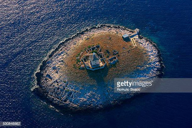 Lighthouse, Pakleni Islands, Adriatic Sea, Dalmatia, Croatia