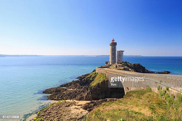 Lighthouse Phare du Petit Minou in the Finistere, Brittany, France