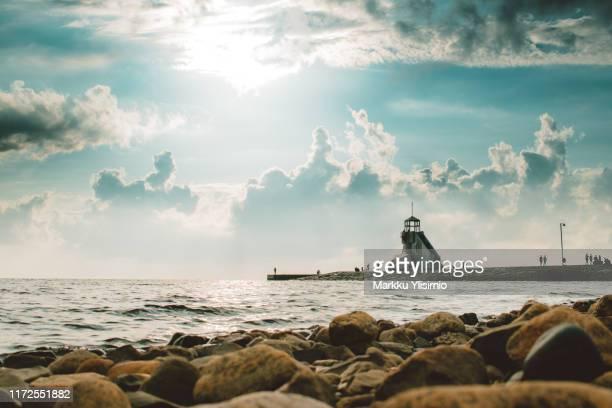 lighthouse - finnland stock-fotos und bilder