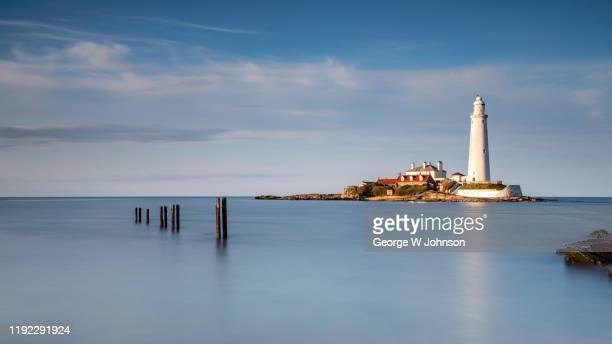 lighthouse #3 - blyth northumberland stock pictures, royalty-free photos & images