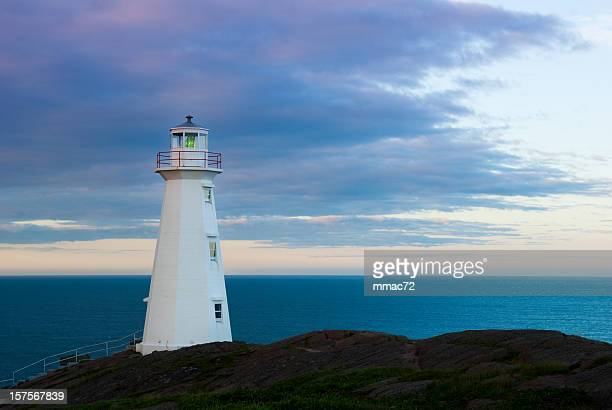 lighthouse - newfoundland and labrador stock pictures, royalty-free photos & images