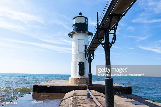 lighthouse - saint joseph stock pictures, royalty-free photos & images