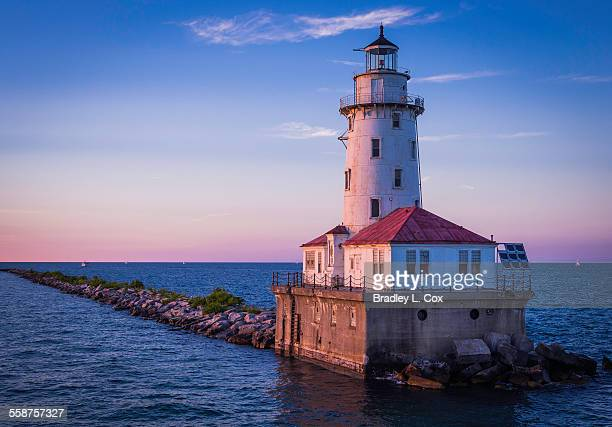 lighthouse - lake michigan stock pictures, royalty-free photos & images