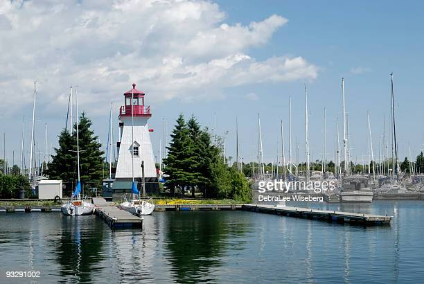 lighthouse - lake ontario stock pictures, royalty-free photos & images