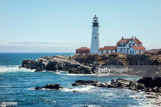 lighthouse - massachusetts stock pictures, royalty-free photos & images