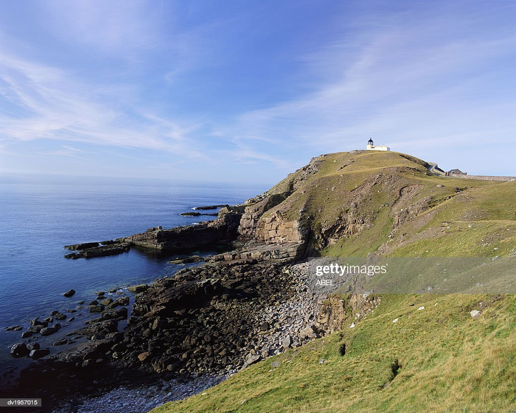 Lighthouse, Point of Stoer, Sutherland, Scotland : Stock Photo