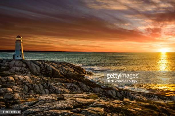 lighthouse sunset - halifax nova scotia stock pictures, royalty-free photos & images