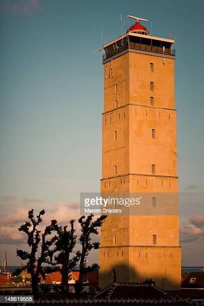 lighthouse the brandaris. - merten snijders stockfoto's en -beelden