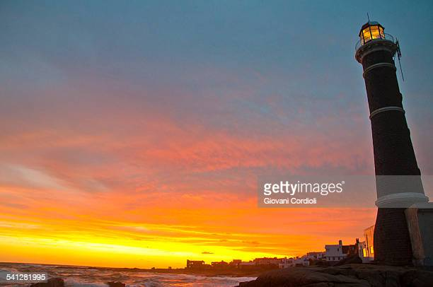 lighthouse, uruguay - jose ignacio lighthouse stock photos and pictures