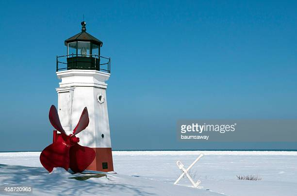 lighthouse vermilion - ohio stock pictures, royalty-free photos & images