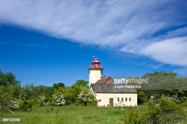 Lighthouse, Westermarkelsdorf, Island of Fehmarn, Baltic Sea, Schleswig-Holstein, Germany