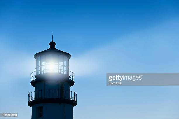 Lighthouse with beams