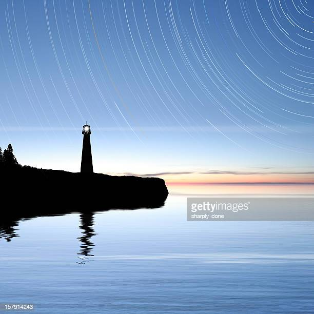 xxxl lighthouse with stars - north star stock pictures, royalty-free photos & images