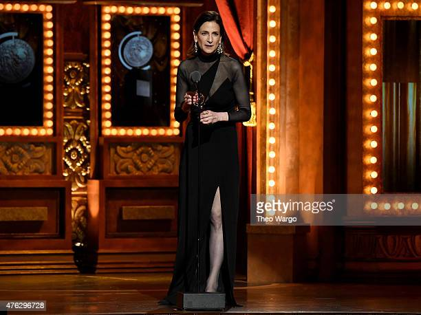 Lighting Designer Natasha Katz accepts the award for Best Lighting Design of a Musical for An American in Paris onstage at the 2015 Tony Awards at...