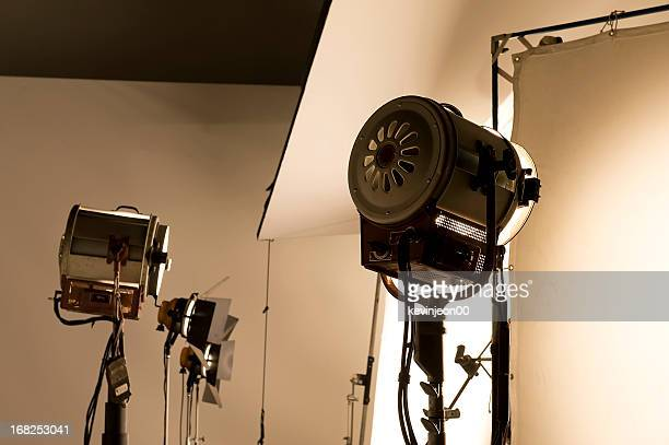 lighting equipment. - spotlight film stock photos and pictures
