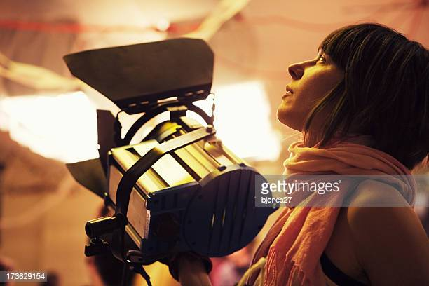 lighting - cinematographer stock pictures, royalty-free photos & images