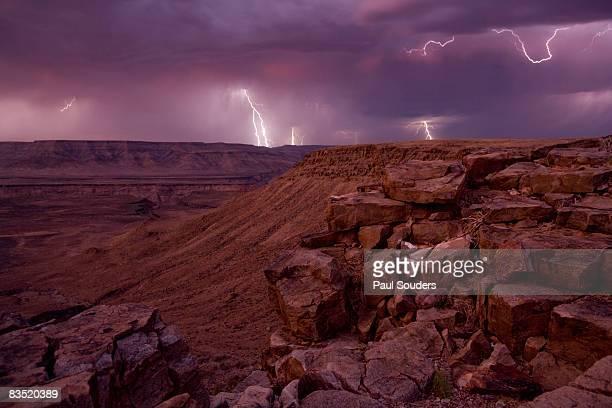 Lighting Storm above Fish River Canyon, Namibia
