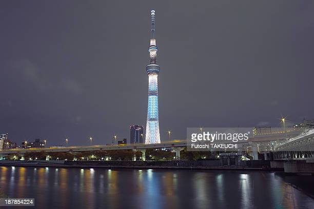 Lighting test day of Tokyo Sky Tree