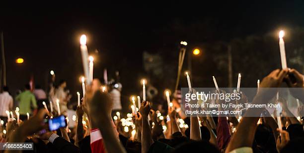 "lighting the world protesting darkness ""shabag"" - protest stockfoto's en -beelden"
