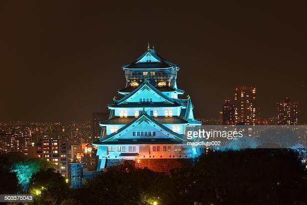 Beleuchtung-up der Burg Osaka