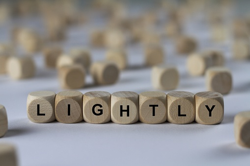 lightly - cube with letters, sign with wooden cubes 800836444