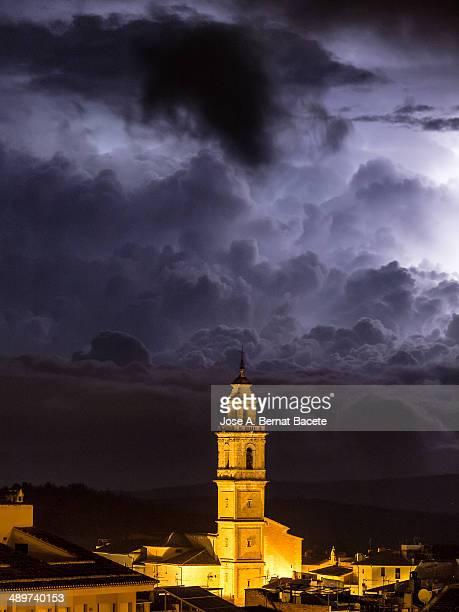 Lightning and thunderstorm
