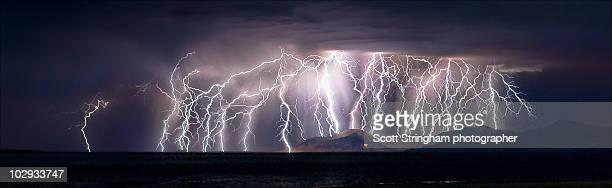 Lightning at Great Salt Lake, Utah
