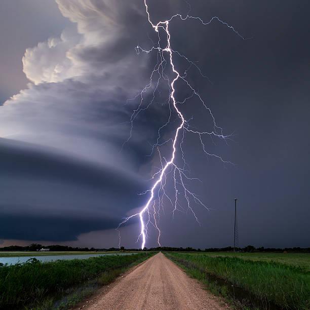 Lightning Bolt From A Super-cell Thunderstorm, Nebraska, USA Wall Art