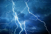 Lightning during summer storm