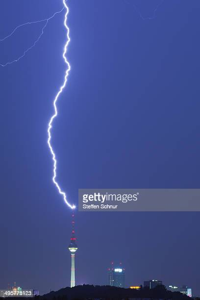 Lightning impact in the Television Tower Berlin