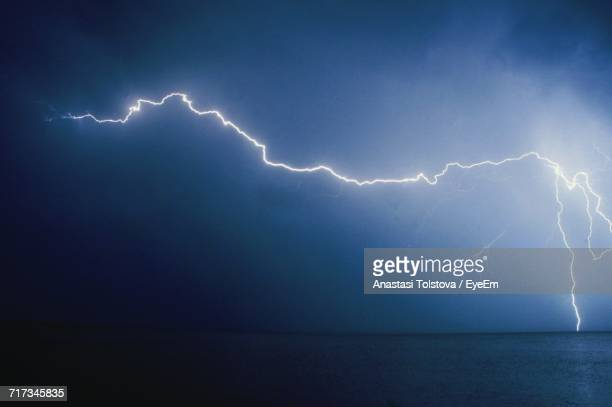 Lightning In Sky Over Sea