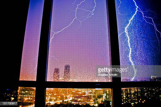 Lightning in window