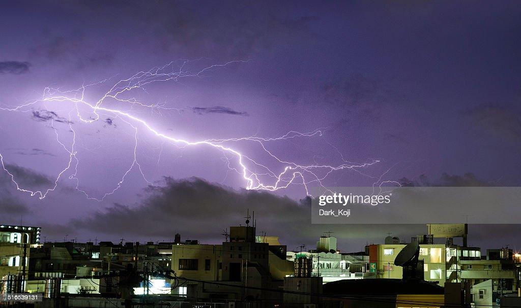 Lightning | Naha City, Okinawa : Stock Photo