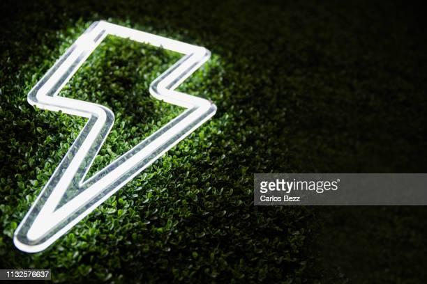 lightning neon - fähigkeit stock-fotos und bilder