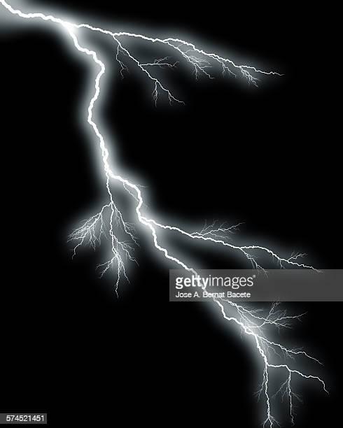 Lightning on black