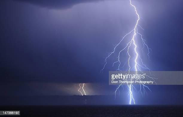 Lightning over Southern Ocean