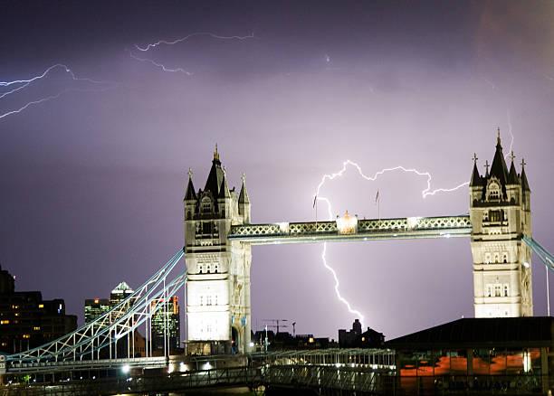 Lightning Over Tower Bridge, London Wall Art