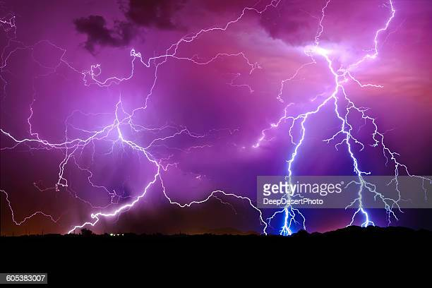 Lightning storm, Arlington, Arizona, America, USA