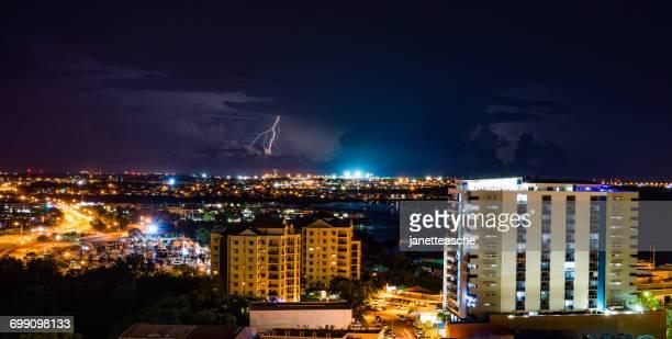 lightning storm at night, darwin, northern territory, australia - rainy season stock pictures, royalty-free photos & images