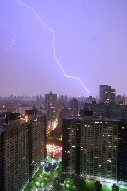 Lightning Storm During Over Manhattan
