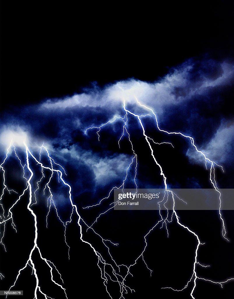 Lightning storm : Stock Photo